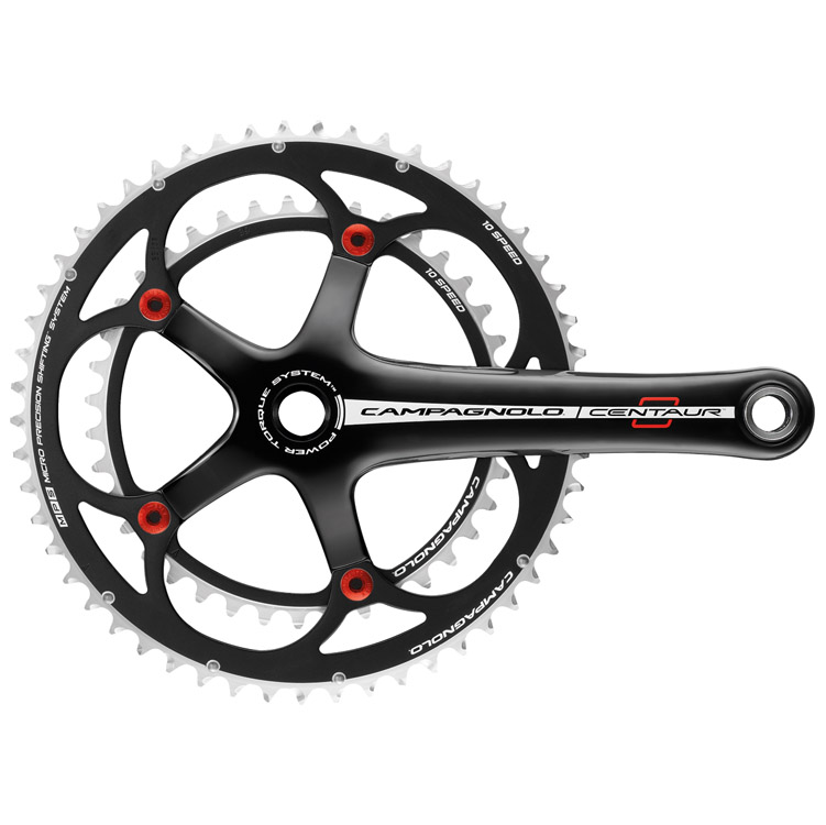 Campagnolo Centaur 10 Speed Red & Black Crankset 175 39/53