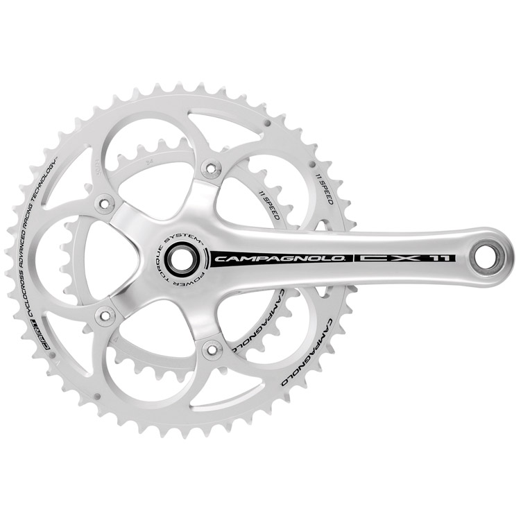 Campagnolo Compact 172.5 36/46 11 Speed Silver Crankset CX11