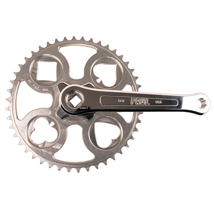 Paul Components Royal Flush Silver Track Crankset 165x48t 1/8""