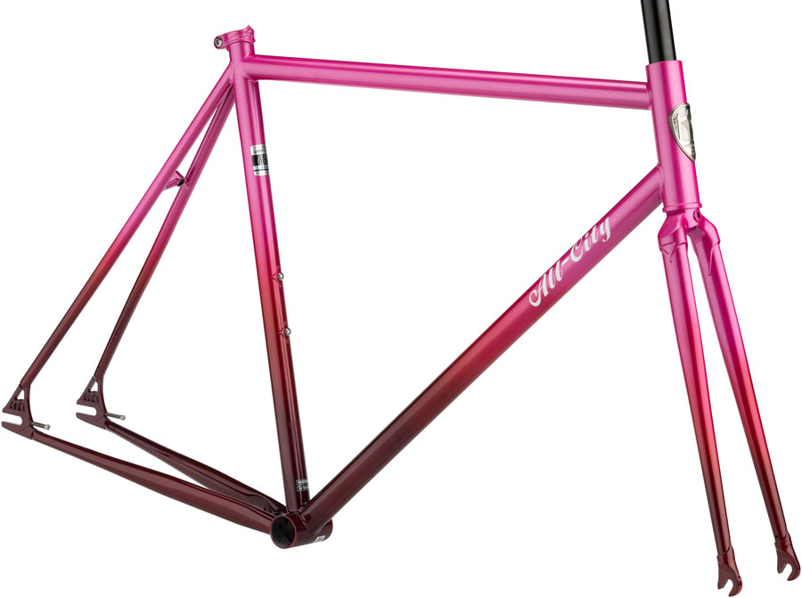 All-City Big Block Single Speed Track Frameset Pink Fade 49cm