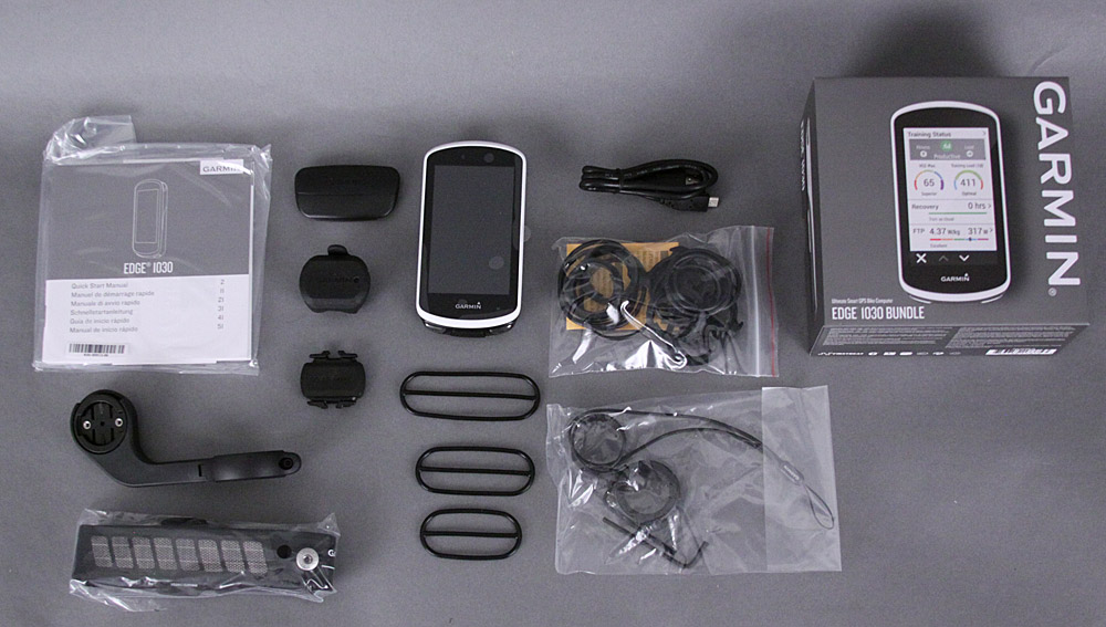 Garmin Edge 1030 Handheld GPS Bike Computer Performance Bundle