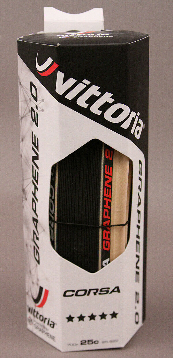 Vittoria Corsa G+ Competition 700 x 25 Black & Tan 320 TPI Tire
