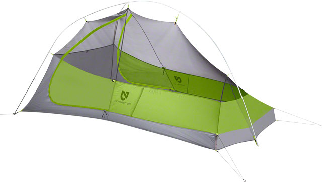Nemo Equipment, Inc. Hornet 2P Shelter, Green/Gray, 2-person