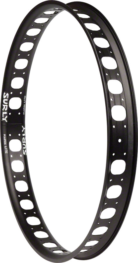 "Surly Marge Lite Fat Bike Rim 26"" 32h Black"