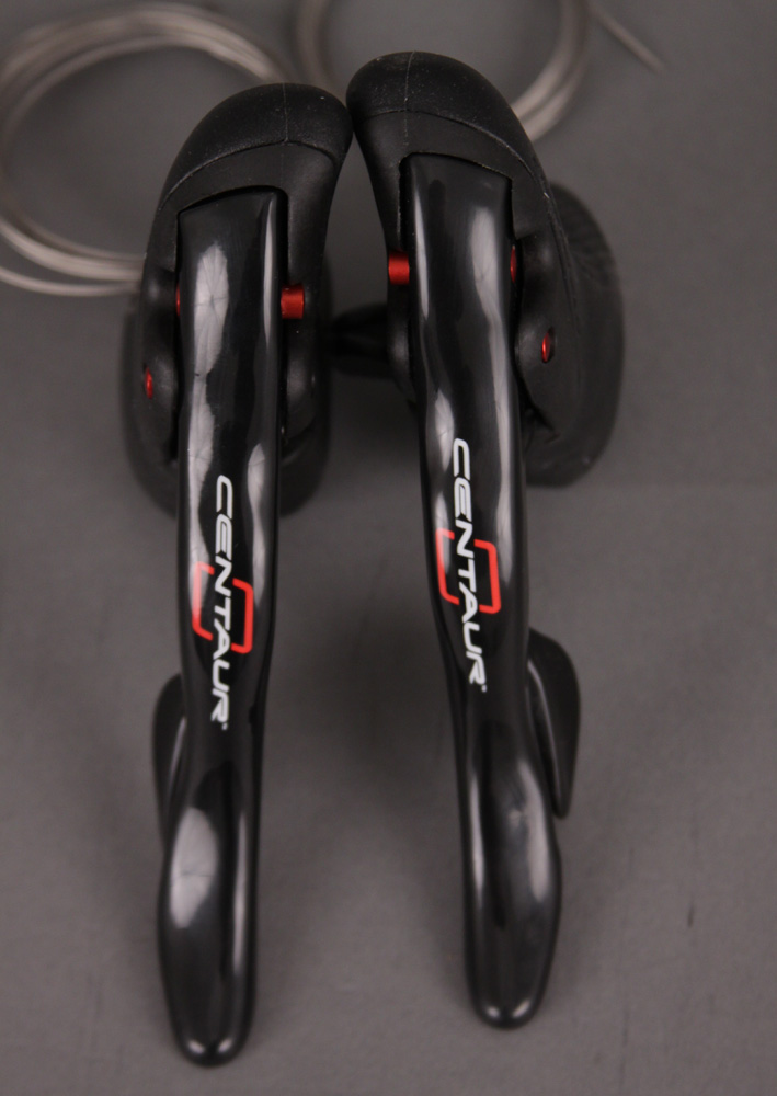 Campagnolo Centaur Red & Black 10 Speed Shifters Alloy
