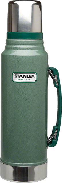 Stanley Classic Vacuum Insulated Bottle: Green, 1.1qt