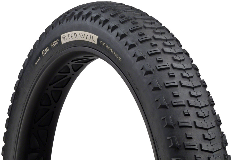 Teravail Coronado Fat Bike Tire 26 x 4 Tubeless Folding 120tpi