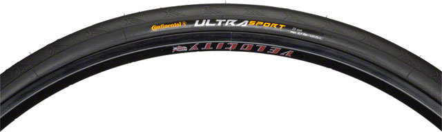 Continental Ultra Sport II Tire 700x25 Black Steel Bead
