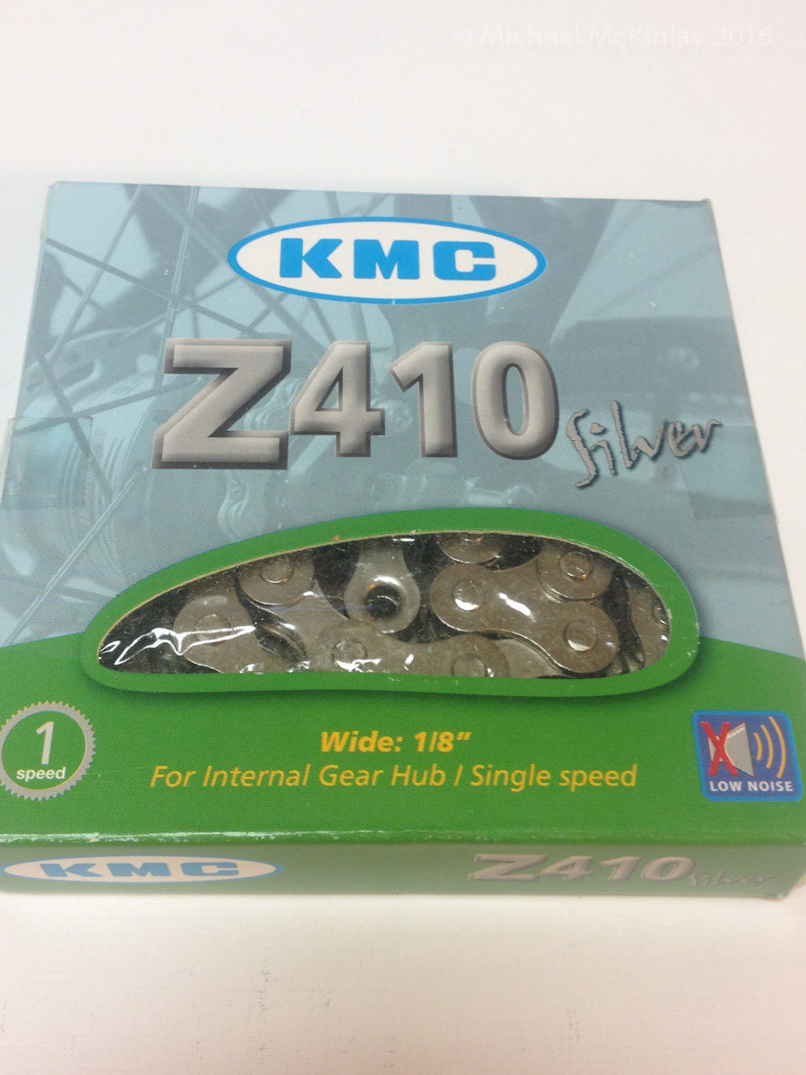 "KMC Z410NP Chain: 1/8"" 112 Links Silver"