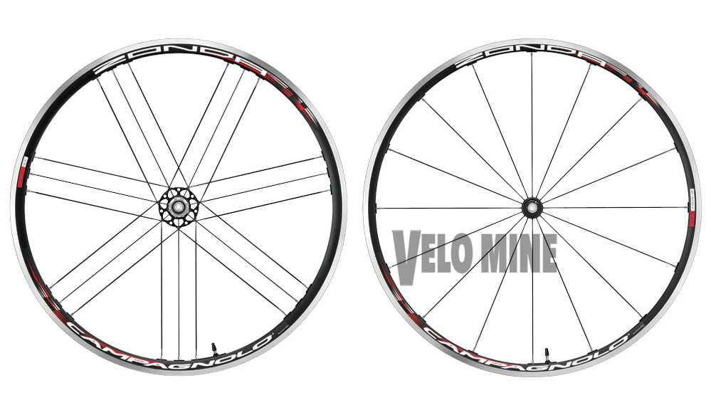 Campagnolo Zonda 2 Way Fit Tubeless Black Wheelset 9 10 11 speed