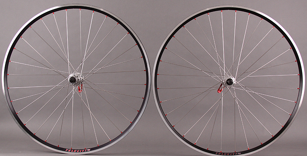 Velocity A23 Miche Campagnolo hubs 32h 9 10 11 speed wheelset