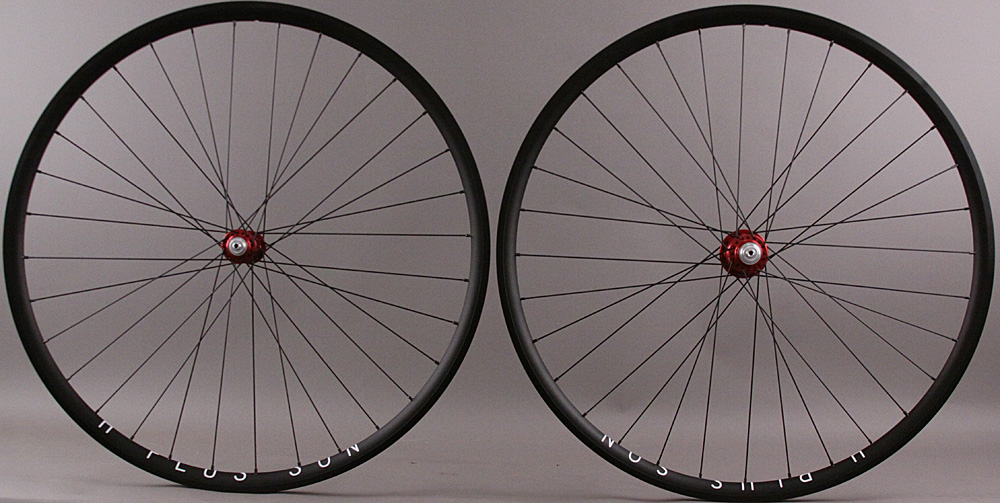 H + Plus Son Archetype Rims, Red White Industries T11 Hubs