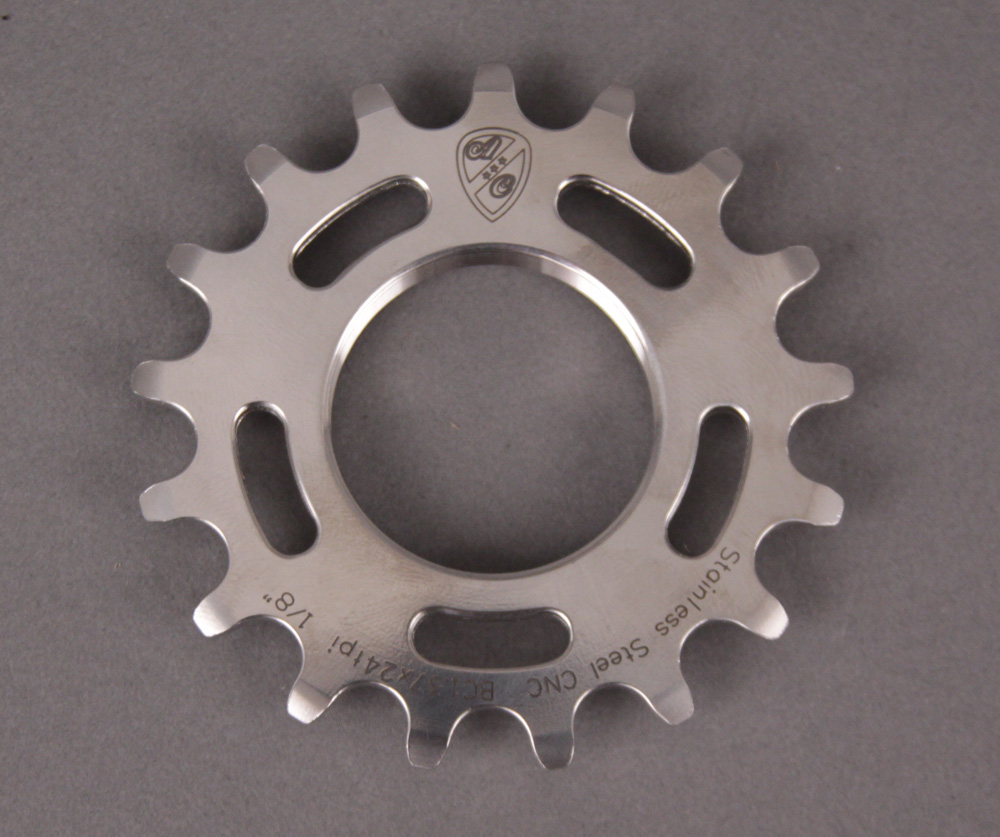 All City Track STAINLESS STEEL Cog 1/8th Inch 15 Tooth Single
