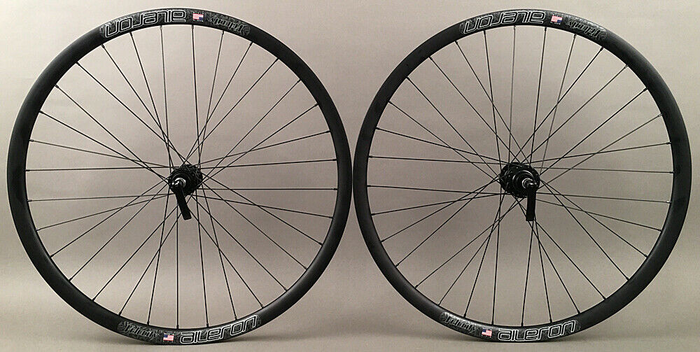 Velocity Aileron 700c Gravel CX Bike Wheels Tubeless QR or Thru