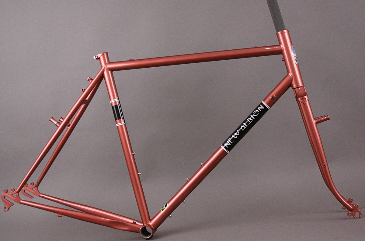 New Albion Privateer Steel Road Bicycle Copper Frameset 58 cm