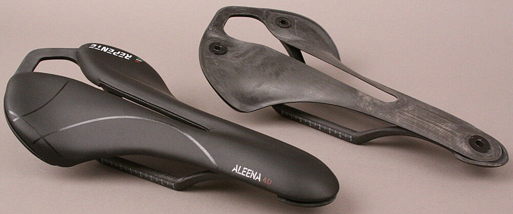 Repente Italian Road Bike Carbon Saddle Aleena 4.0 Black Circle