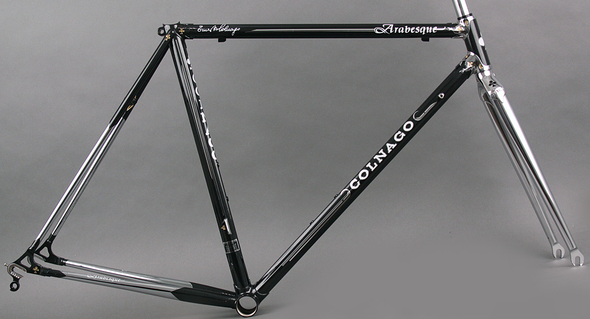 2016 Colnago Arabesque lugged steel Road bike Frame & Fork Black