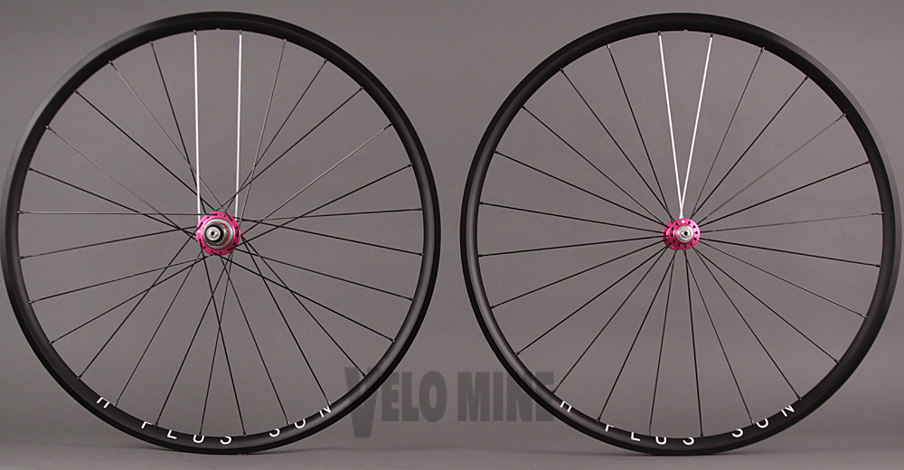 H Plus Son Archetype White Ind Pink T11 hubs Sapim CX Ray
