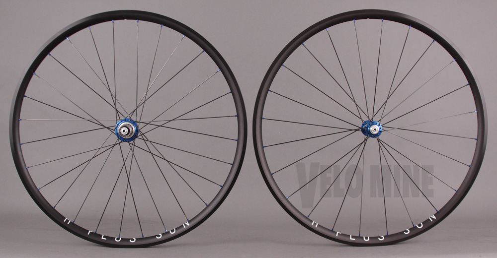 H Plus + Son Archetype Black Rims White Industries hubs Wheelset