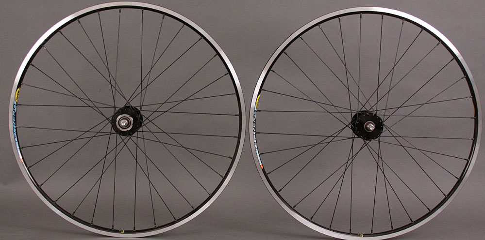 Black Phil Wood Mavic Open Pro Track Bike Fixed Gear Wheelset