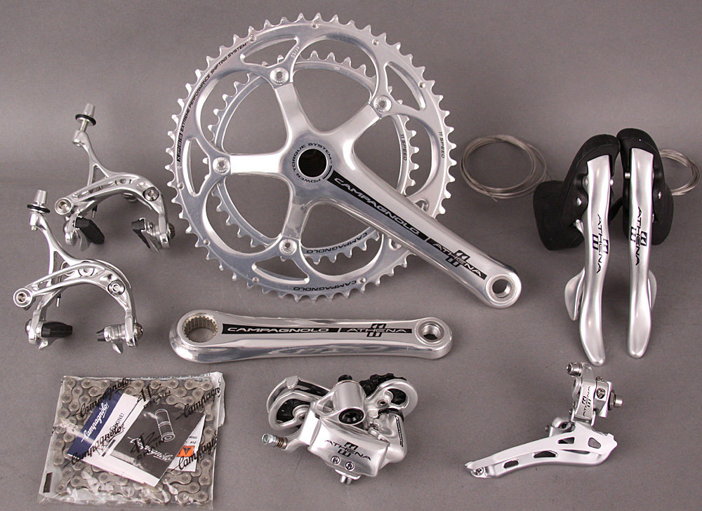 2015 Campagnolo Athena Silver 11 Speed 6 pc Group 172.5 Crankset