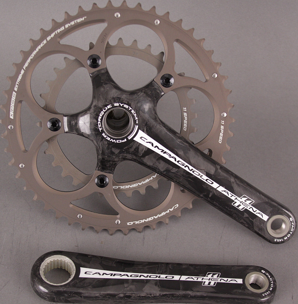 Campagnolo Athena Carbon Power Torque Crankset 165mm 39/53