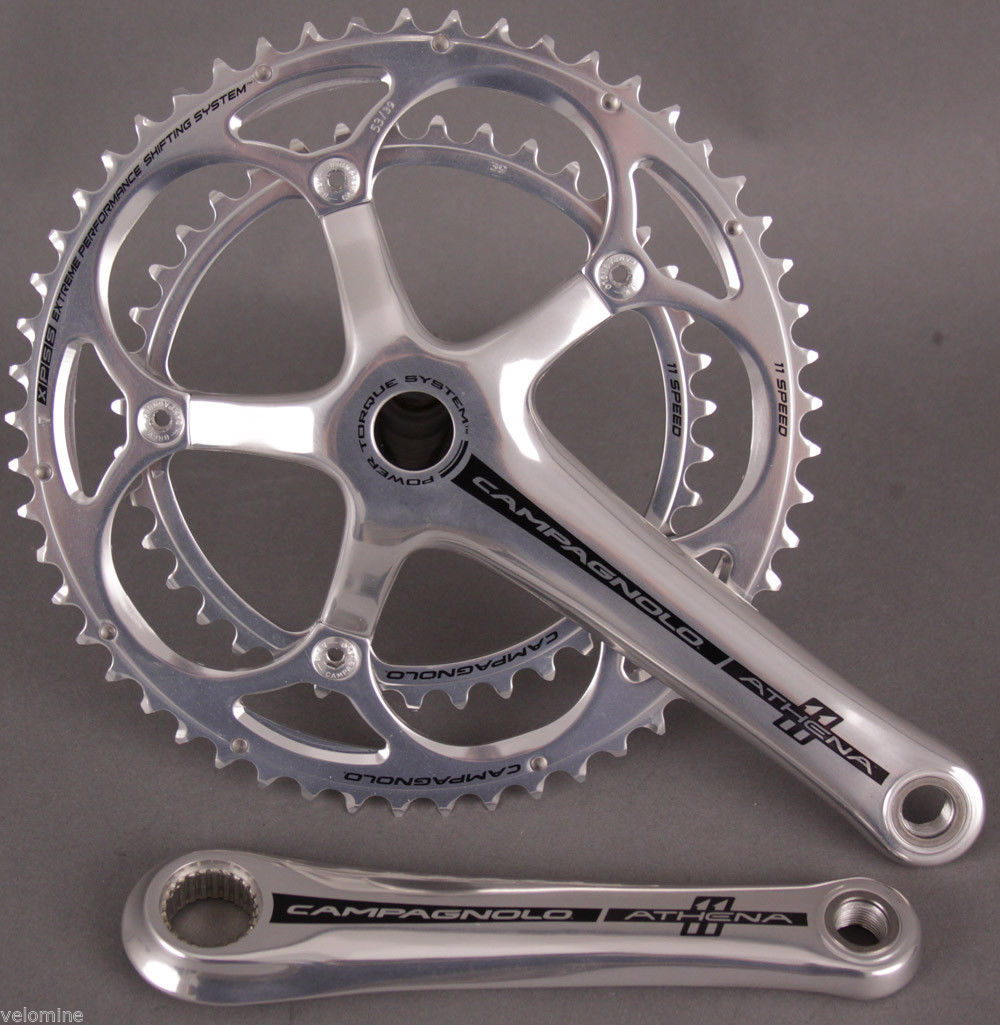 Campagnolo Athena Silver 11 Speed PT Crankset 175mm 39/53
