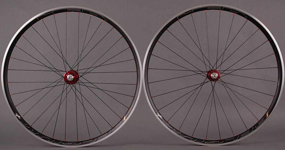 HED BELGIUM + PLUS Wheelset Chris King R45 Red Hubs 28f 32r