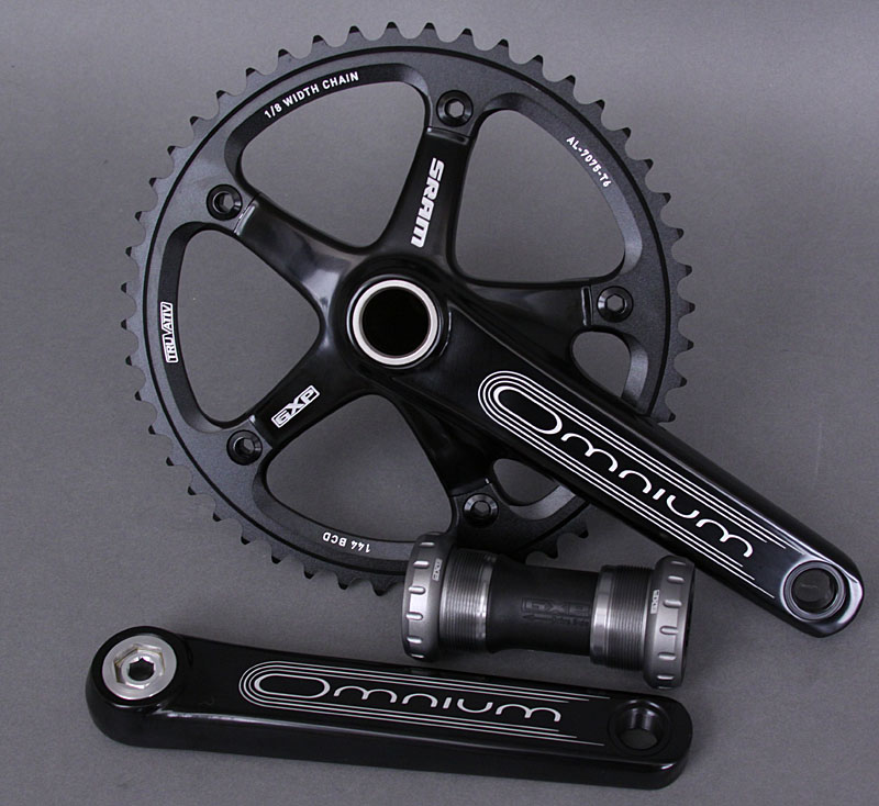 Sram Truvativ Omnium TRACK cranks crankset 165mm Black
