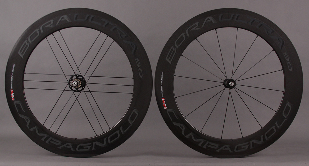 Campagnolo Bora Ultra 80 Carbon Tubular Wheelset Dark Label