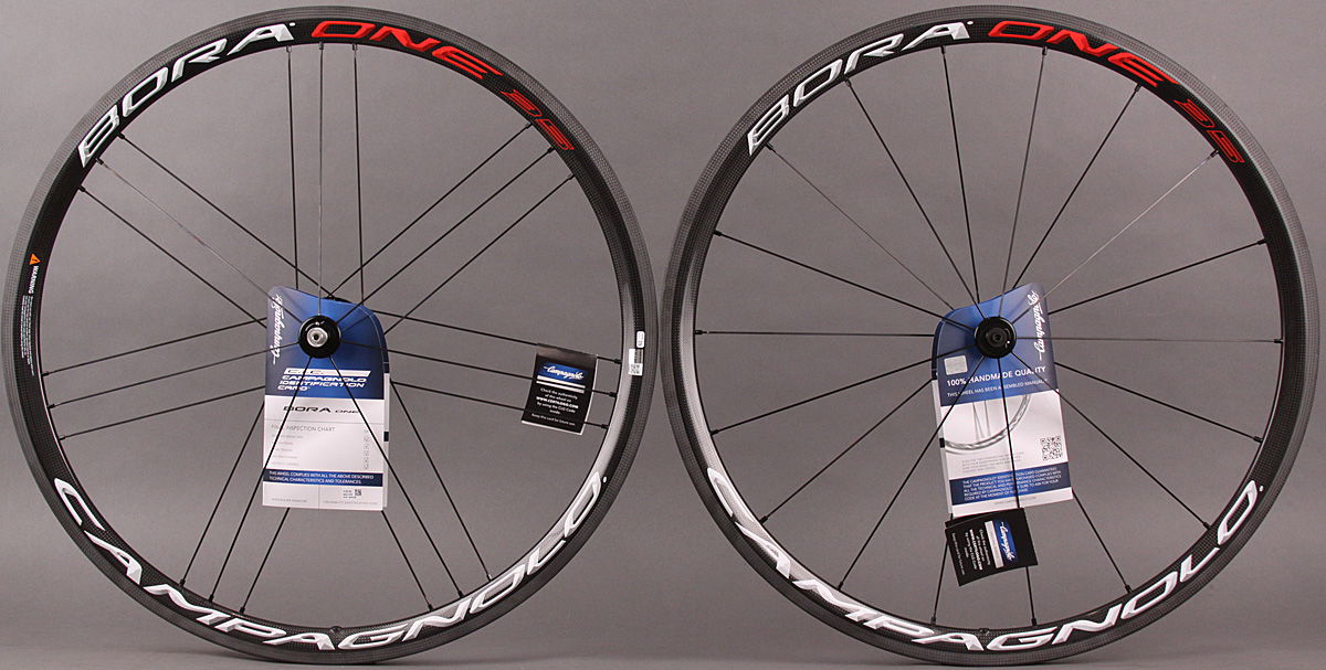 2015 Campagnolo Bora One 35 Carbon Clincher Wheelset Bright