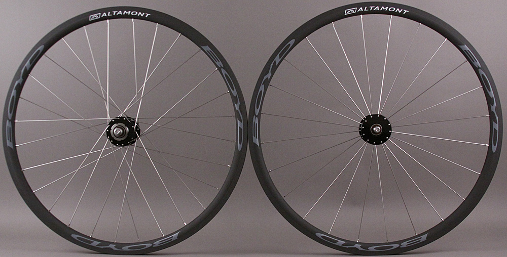 Black Phil Wood Boyd Altamont Bike Fixed Gear Wheelset 24/28