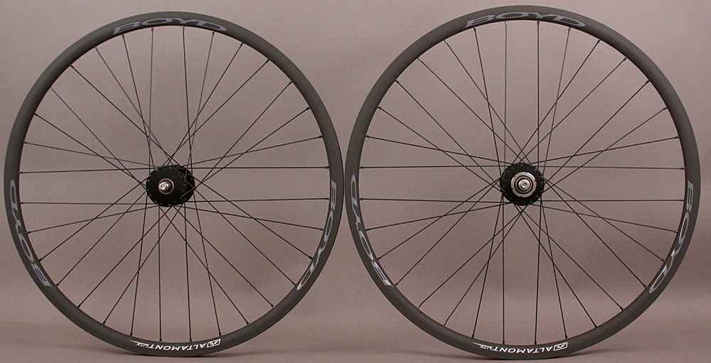 Black Phil Wood Gray Boyd Altamont Rims Bike Fixed Gear Wheels