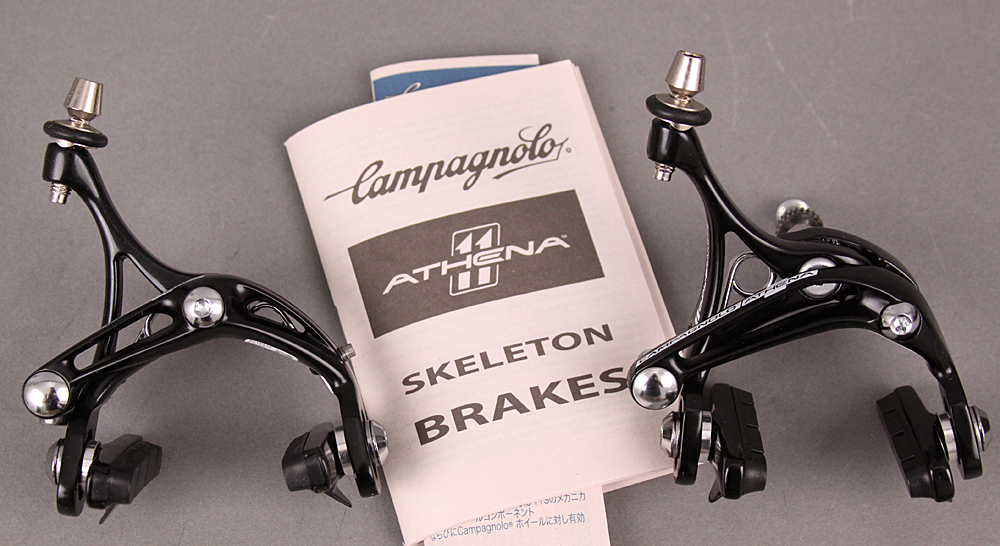 Campagnolo Athena Black Alloy Brakes Set Dual Front Single Rear
