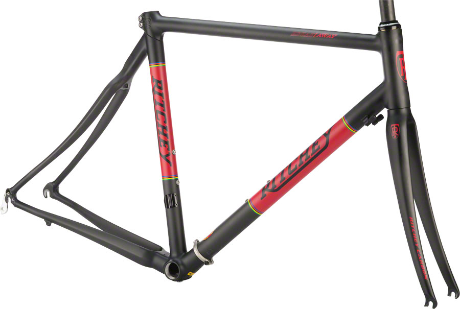 Ritchey Break-Away Frameset Carbon Black Red Large & Travel Case