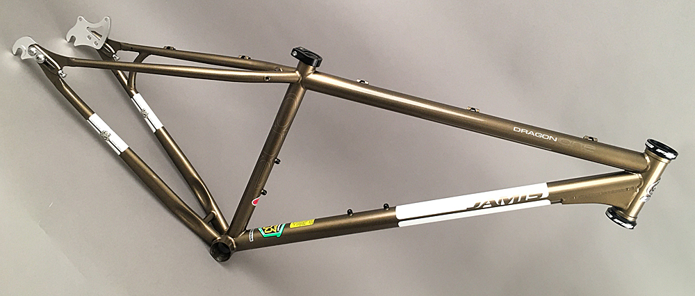 "Jamis Dragon 29er MTB Single Speed Bike Steel Frame 15"" Bronze"