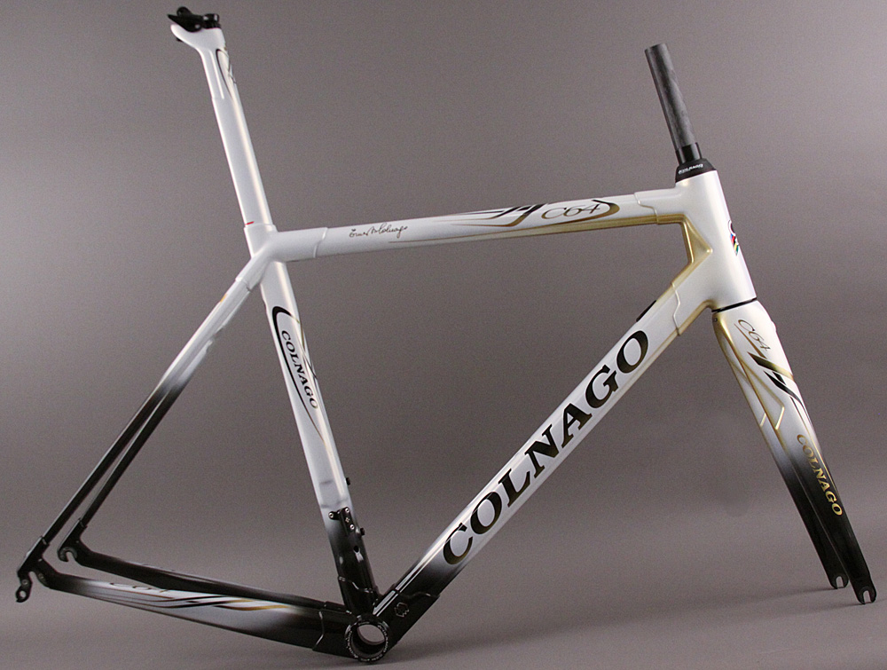 2018 Colnago C64 Frameset and Fork BFWH White Gold Black 54s