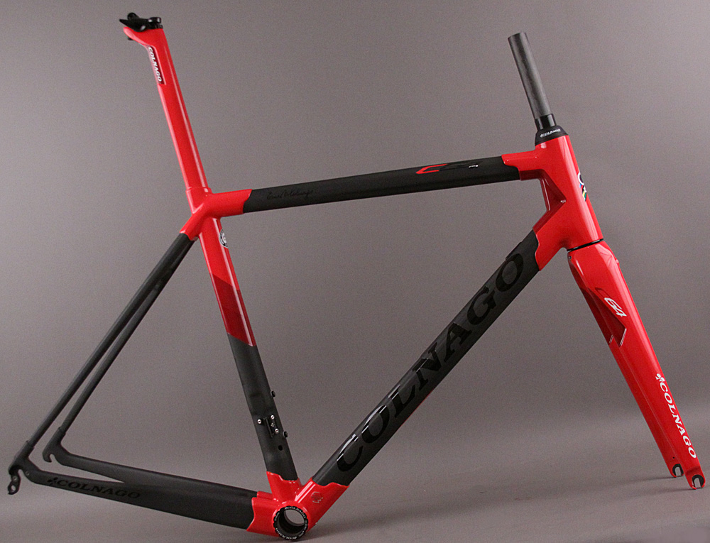 2018 Colnago C64 Frameset and Fork PKRD Matte Black/Red 52s