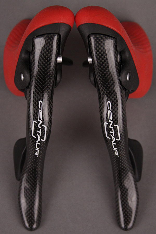 Campagnolo Centaur Carbon 10 Speed Ergo Shifters Red Hoods