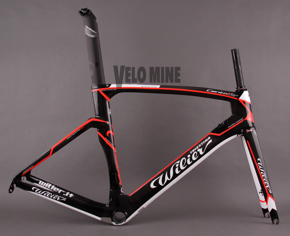 Wilier Cento 1 Air Frameset Black Red Road Racing All Sizes
