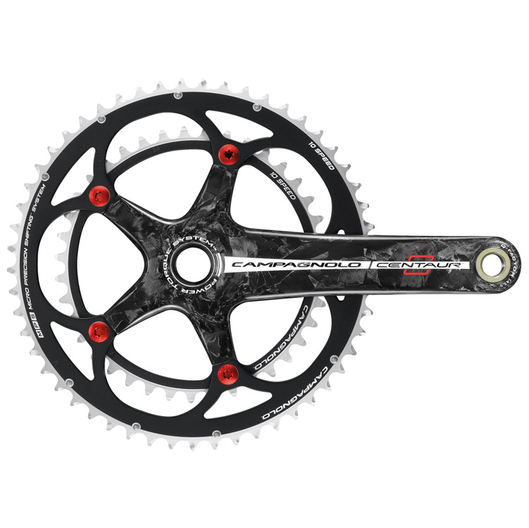 Campagnolo Centaur 10 Speed Red Black Carbon Crankset 170 39/53
