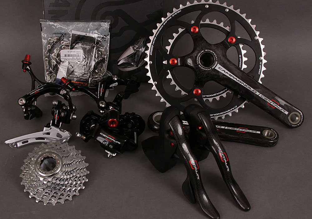 2012 Campagnolo Centaur Red 10 Speed Carbon 9 Piece Group