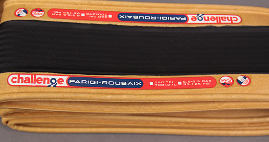Challenge Parigi Paris Roubaix Clincher 700x27c Black Brown Tire