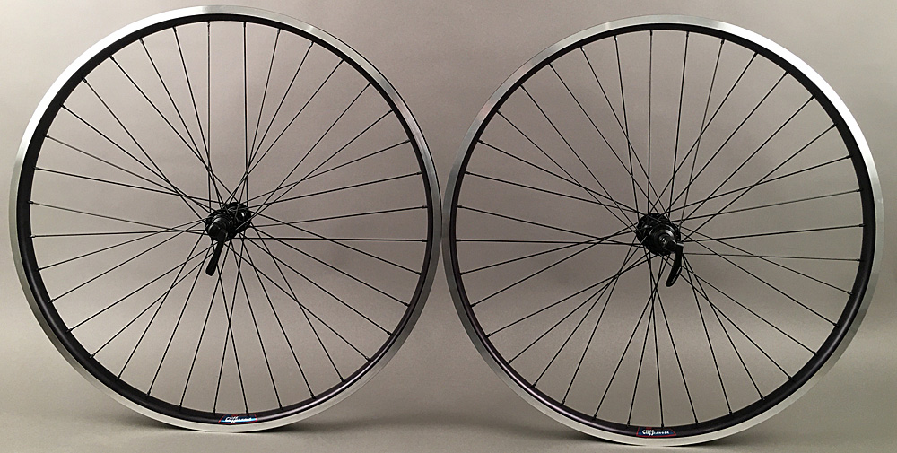 Black Heavy Duty Velocity Cliffhanger 700c Wheelset 100-135mm