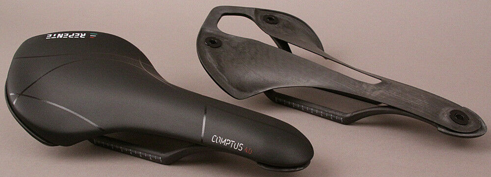 Repente Italian Road Bike Carbon Saddle Comptus 4.0All Black