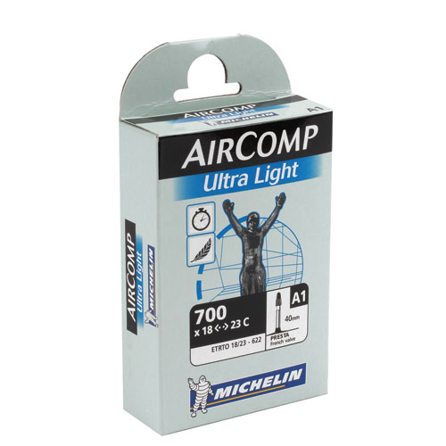Michelin Air Comp Ultra Light 700x18-23 Butyl 52mm Presta Valve