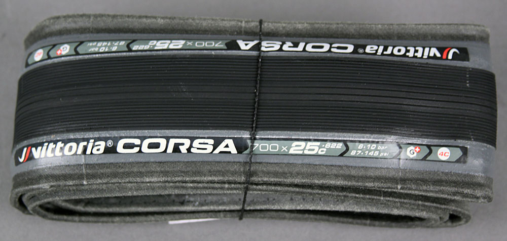 Vittoria Corsa G+ Competition 700x25 Black Clincher 320 TPI Tire