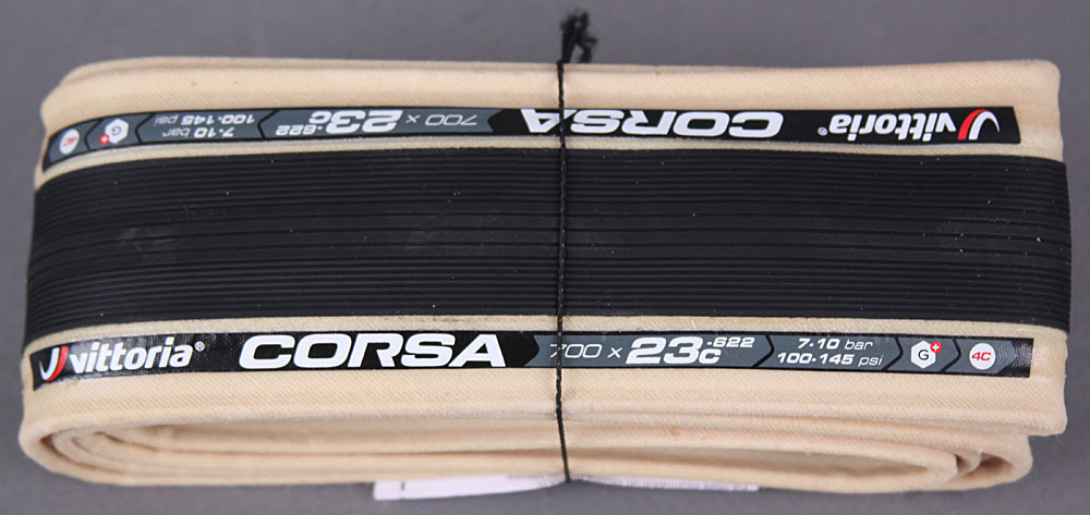 Vittoria Corsa G+ Competition 700 x 23 Black & Tan 320 TPI Tire