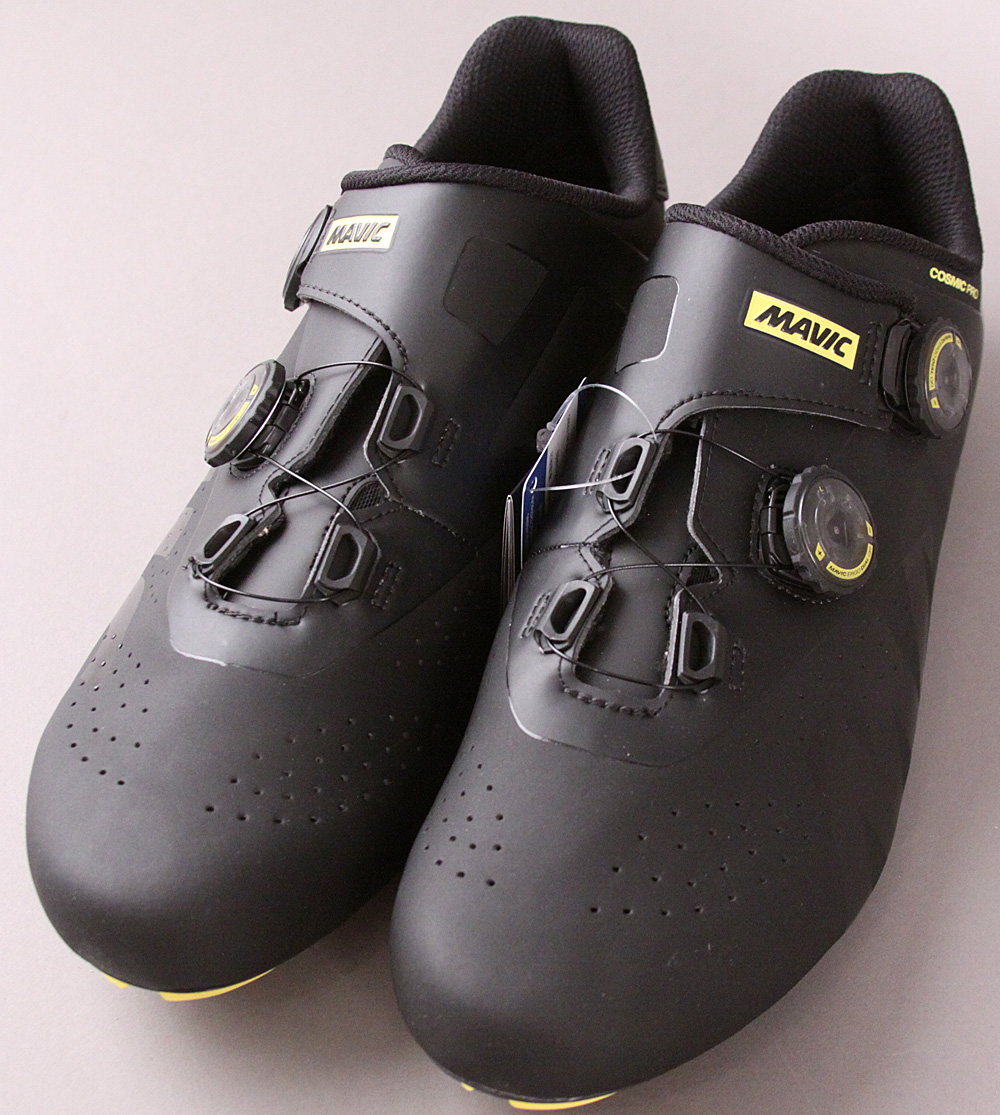 Mavic Cosmic Pro Cycling Shoes Black/Yellow Size 44 2/3 EU