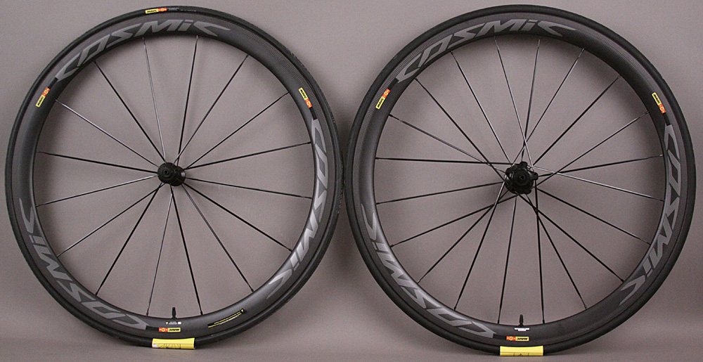 Mavic Cosmic Pro Carbon SL Tubular Road Bike Wheelset & Tires